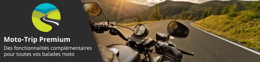 Moto-Trip Premium : des fonctionnalités complémentaires pour toutes vos balades moto