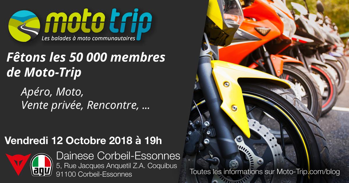 Fêtons les 50 000 membres de Moto-Trip