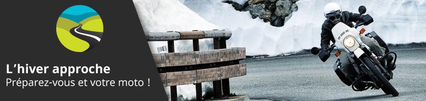 L'hiver approche ! Tous nos conseils pour vous préparer ainsi que votre moto