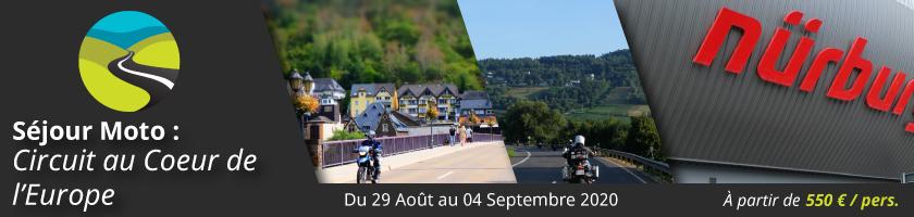 Séjour Moto : Circuit au Coeur de l'Europe
