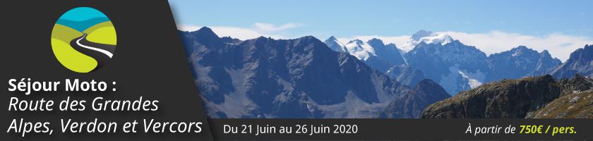 Séjour moto : Route des Grandes Alpes, Verdon et Vercors