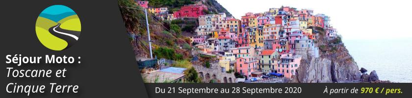 Séjour Moto : Toscane et Cinque Terre