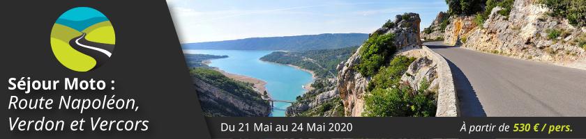 Séjour Moto : Route Napoléon, Gorges du Verdon et Vercors
