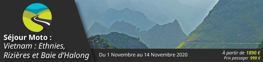 Séjour Moto : Vietnam : Ethnies, Rizières et Baie d'Halong