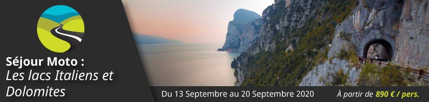 Séjour Moto : Les lacs Italiens et Dolomites