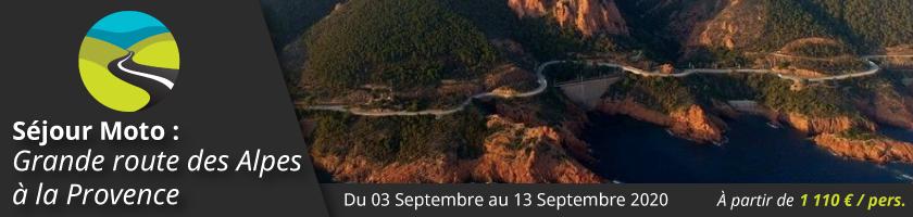 Séjour moto : La Grande Route des Alpes à la Provence