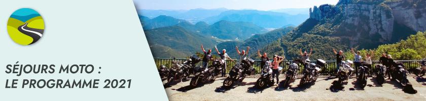 On fait le plein de séjours moto pour 2021 : France, Suisse, Italie, Maroc, Vietnam, …